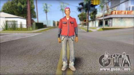 Marty from Back to the Future 2015 para GTA San Andreas