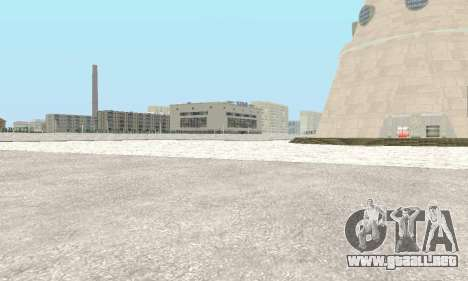 Nieve para GTA Penal de Rusia beta 2 para GTA San Andreas sucesivamente de pantalla