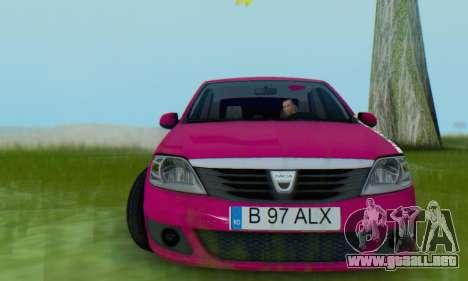 Dacia Logan 2013 para GTA San Andreas vista hacia atrás