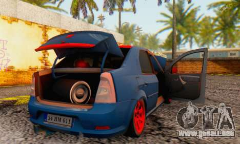 Dacia Logan Turkey Tuning para vista inferior GTA San Andreas