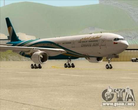 Airbus A330-300 Oman Air para GTA San Andreas left