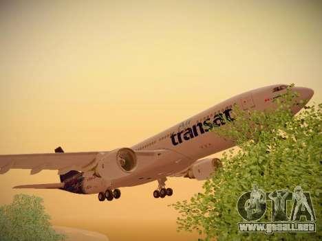 Airbus A330-200 Air Transat para vista inferior GTA San Andreas