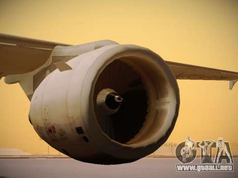Airbus A320-214 LAN Airlines 80 Years para vista inferior GTA San Andreas