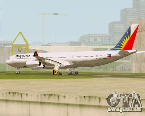 Airbus A340-313 Philippine Airlines para la visión correcta GTA San Andreas