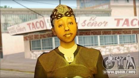 Afro - Seville Playaz Settlement Skin v4 para GTA San Andreas tercera pantalla