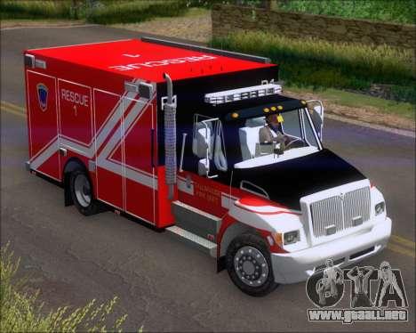 Pierce Commercial TFD Rescue 1 para GTA San Andreas left