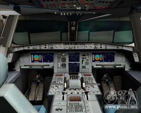 Airbus A380-841 Qantas para la vista superior GTA San Andreas