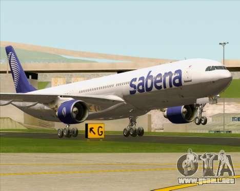 Airbus A330-300 Sabena para GTA San Andreas left