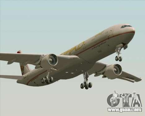 Airbus A330-300 Etihad Airways para vista inferior GTA San Andreas