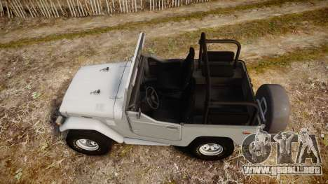 Toyota FJ40 Land Cruiser Soft Top 1978 para GTA 4 visión correcta