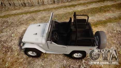 Toyota FJ40 Land Cruiser Soft Top 1978 para GTA 4 visión correcta