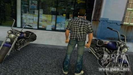 Kockas polo - szurke T-Shirt para GTA Vice City segunda pantalla
