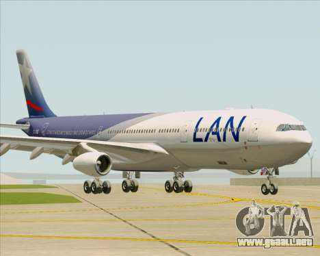 Airbus A340-313 LAN Airlines para GTA San Andreas left
