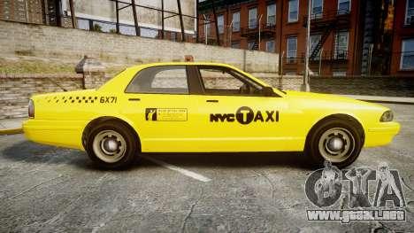 GTA V Vapid Taxi NYC para GTA 4 left