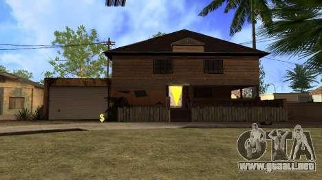 Nuevas texturas en HD casas en grove street v2 para GTA San Andreas segunda pantalla