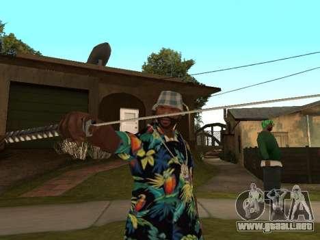 Pose gangster para GTA San Andreas segunda pantalla