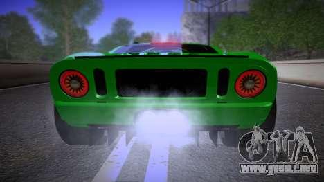 Ford GT 2005 Road version para visión interna GTA San Andreas