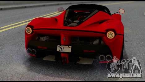 Ferrari LaFerrari 2014 (IVF) para vista lateral GTA San Andreas