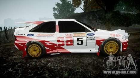 Ford Escort RS Cosworth 2.0 SA Competions para GTA 4 left