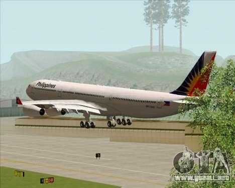 Airbus A340-313 Philippine Airlines para vista lateral GTA San Andreas