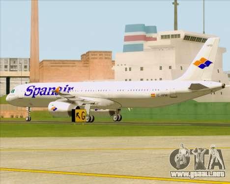 Airbus A321-231 Spanair para visión interna GTA San Andreas