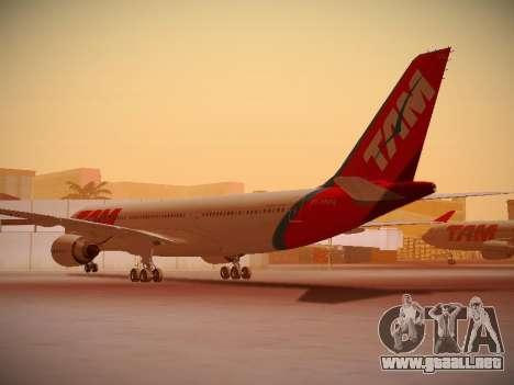 Airbus A330-200 TAM Airlines para la visión correcta GTA San Andreas