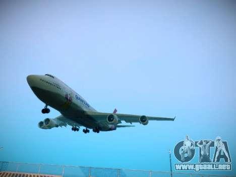 Boeing 747-438 Qantas Boxing Kangaroo para GTA San Andreas left