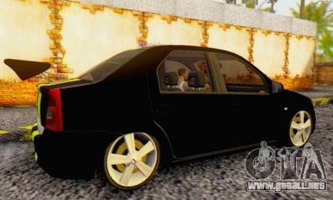 Dacia Logan Black Style para la visión correcta GTA San Andreas