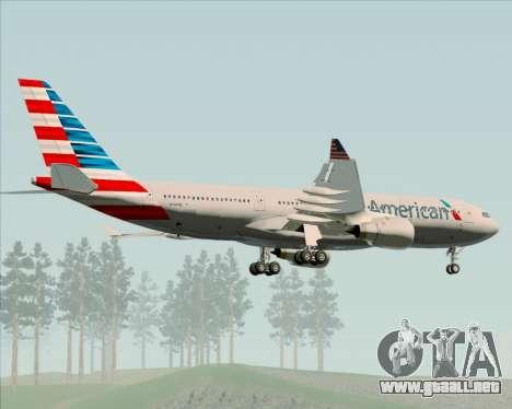 Airbus A330-200 American Airlines para vista lateral GTA San Andreas