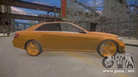 Mercedes-Benz E63 AMG для GTA 4 para GTA 4 Vista posterior izquierda