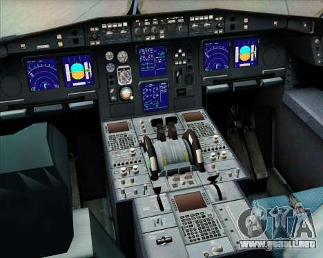 Airbus A340-313 Philippine Airlines para GTA San Andreas interior