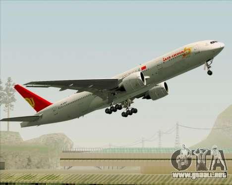 Boeing 777-200ER Air China para vista lateral GTA San Andreas