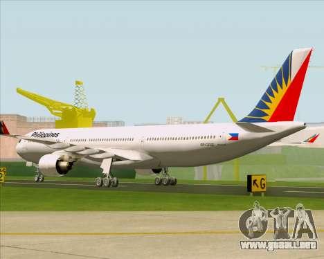 Airbus A330-300 Philippine Airlines para la visión correcta GTA San Andreas