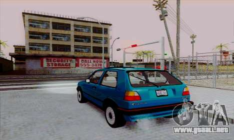 Volkswagen Golf 2 GTi para GTA San Andreas left