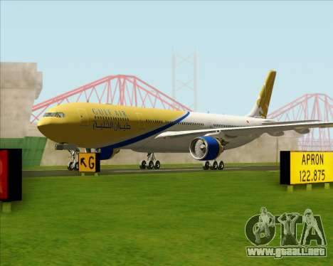 Airbus A330-300 Gulf Air para GTA San Andreas left