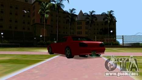 Elegy OnDrift para GTA San Andreas vista hacia atrás