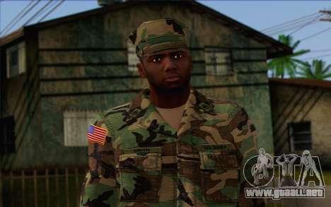 California National Guard Skin 3 para GTA San Andreas tercera pantalla
