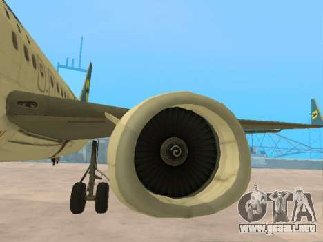 Boeing 737-84R Ukraine International Airlines para vista inferior GTA San Andreas