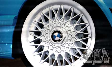 BMW M5 E28 para GTA San Andreas vista hacia atrás