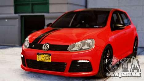 Volkswagen Golf R 2010 Racing Stripes Paintjob para GTA 4