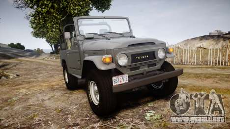 Toyota FJ40 Land Cruiser Soft Top 1978 para GTA 4