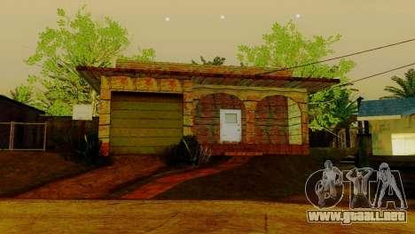 Texturas nuevas casas en la calle grove para GTA San Andreas quinta pantalla