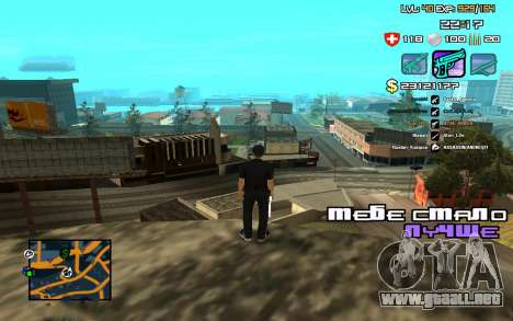 C-HUD by SampHack v.12 para GTA San Andreas tercera pantalla