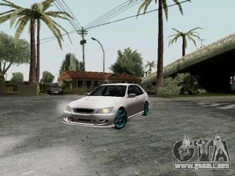 Toyota Altezza Addinol para GTA San Andreas vista posterior izquierda