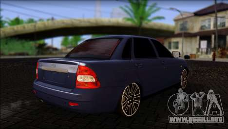 Lada 2170 Priora Black Atack para GTA San Andreas left