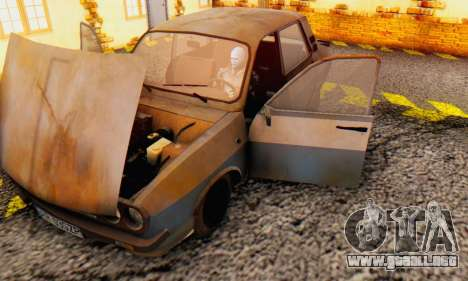 Dacia 1310 MLS Rusty Edition 1988 para visión interna GTA San Andreas