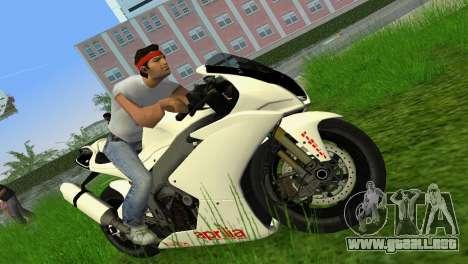 Aprilia RSV4 2009 White Edition II para GTA Vice City vista lateral izquierdo