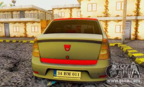 Dacia Logan Turkey Tuning para la visión correcta GTA San Andreas