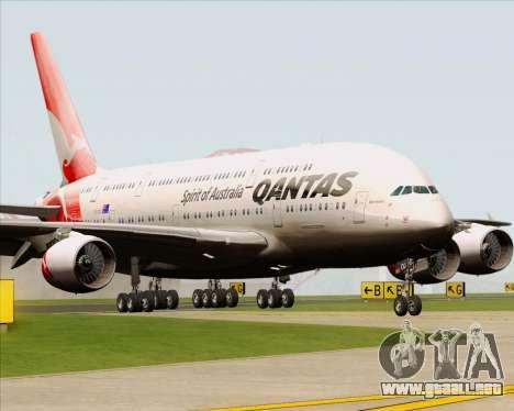 Airbus A380-841 Qantas para GTA San Andreas left