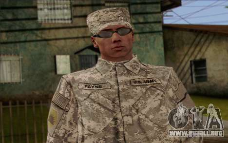 California National Guard Skin 4 para GTA San Andreas tercera pantalla